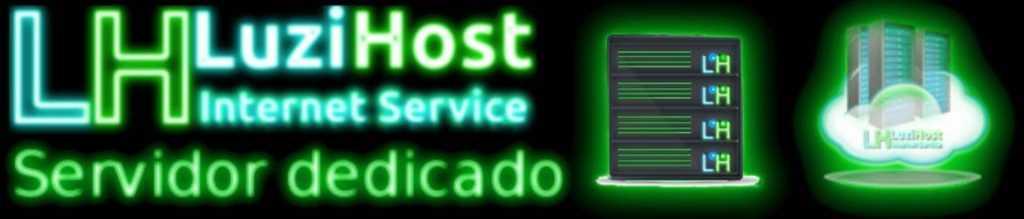 Luzi Host Banner Servidor dedicado Neon 1170×250
