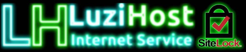 Luzi Host – Internet Service – Banner Detector de Malware SiteLock Neon